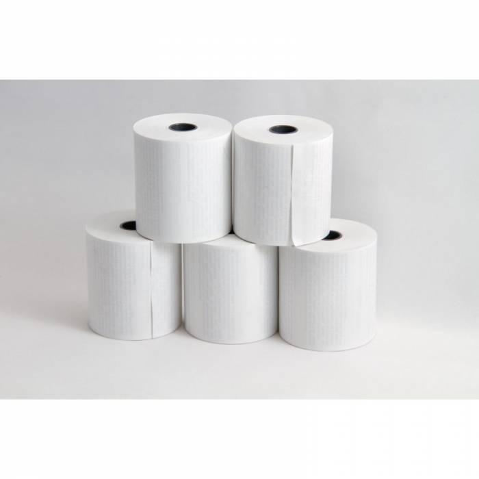 Fünf gestapelte Kartenterminal Papierrollen