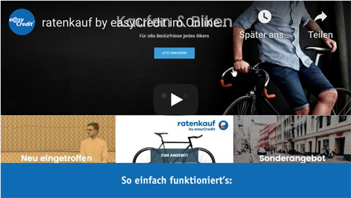ratenkauf by easyCredit im Online-Shop