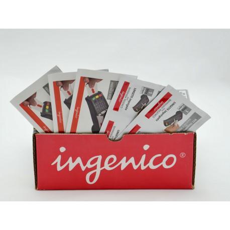 Produktaufsteller von Kartenterminal Reinigungs-Set der Firma Ingenico